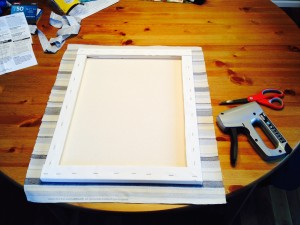 easy fabric wall art prepare frames