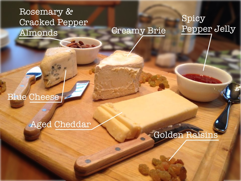 easy cheese plate diagram