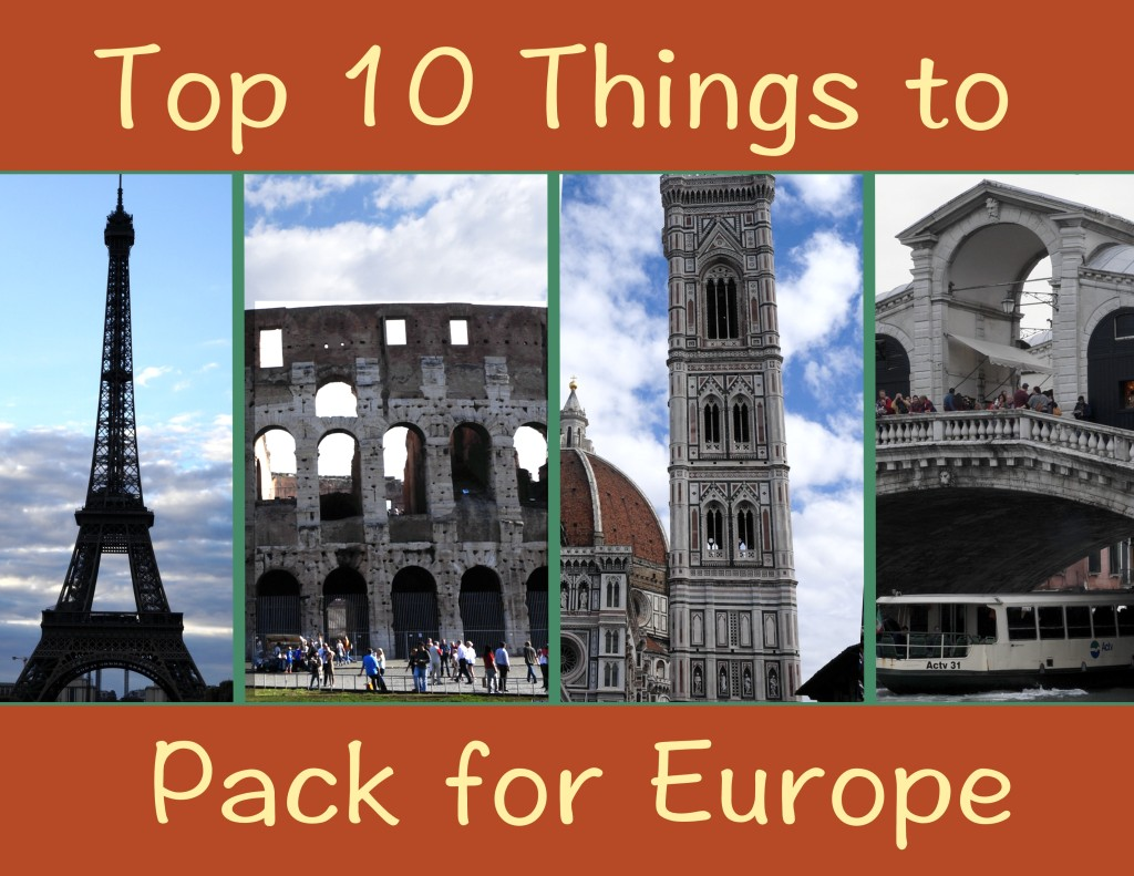 top Europe packing tips
